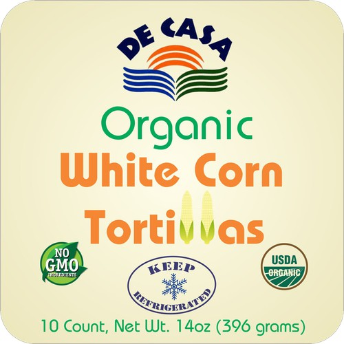 Label concept for tortillas pack
