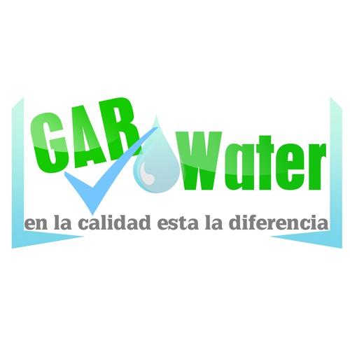 Re-brand premium bottle water logo for GAR Water