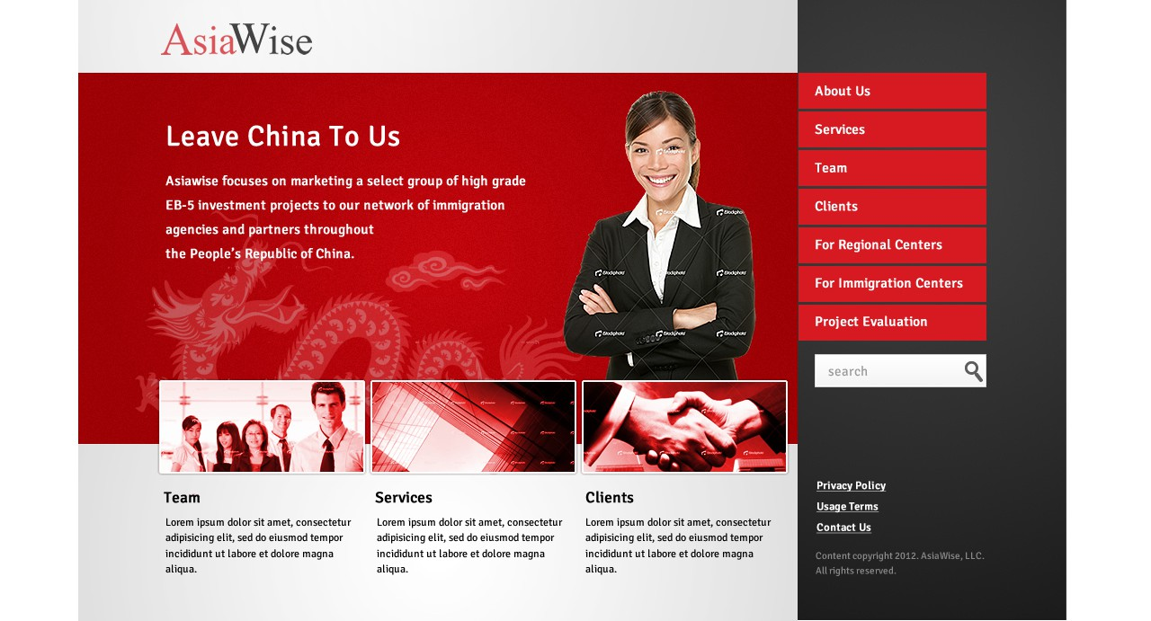 AsiaWise needs a new website design