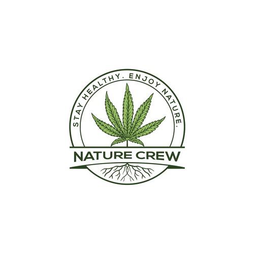 nature crew logo concept