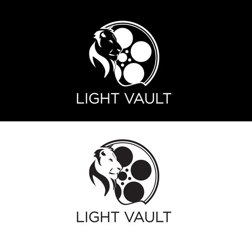 Light Vault - a logo design for a secure motion picture storage company.