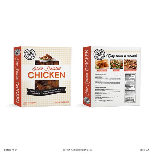 Packaging concept for slow roasted chicken