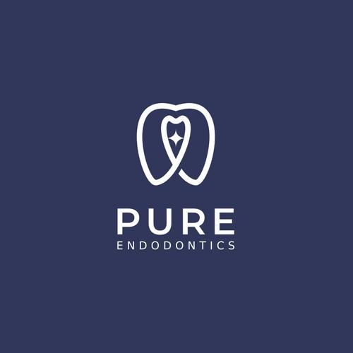 Pure Endodontics logo concept