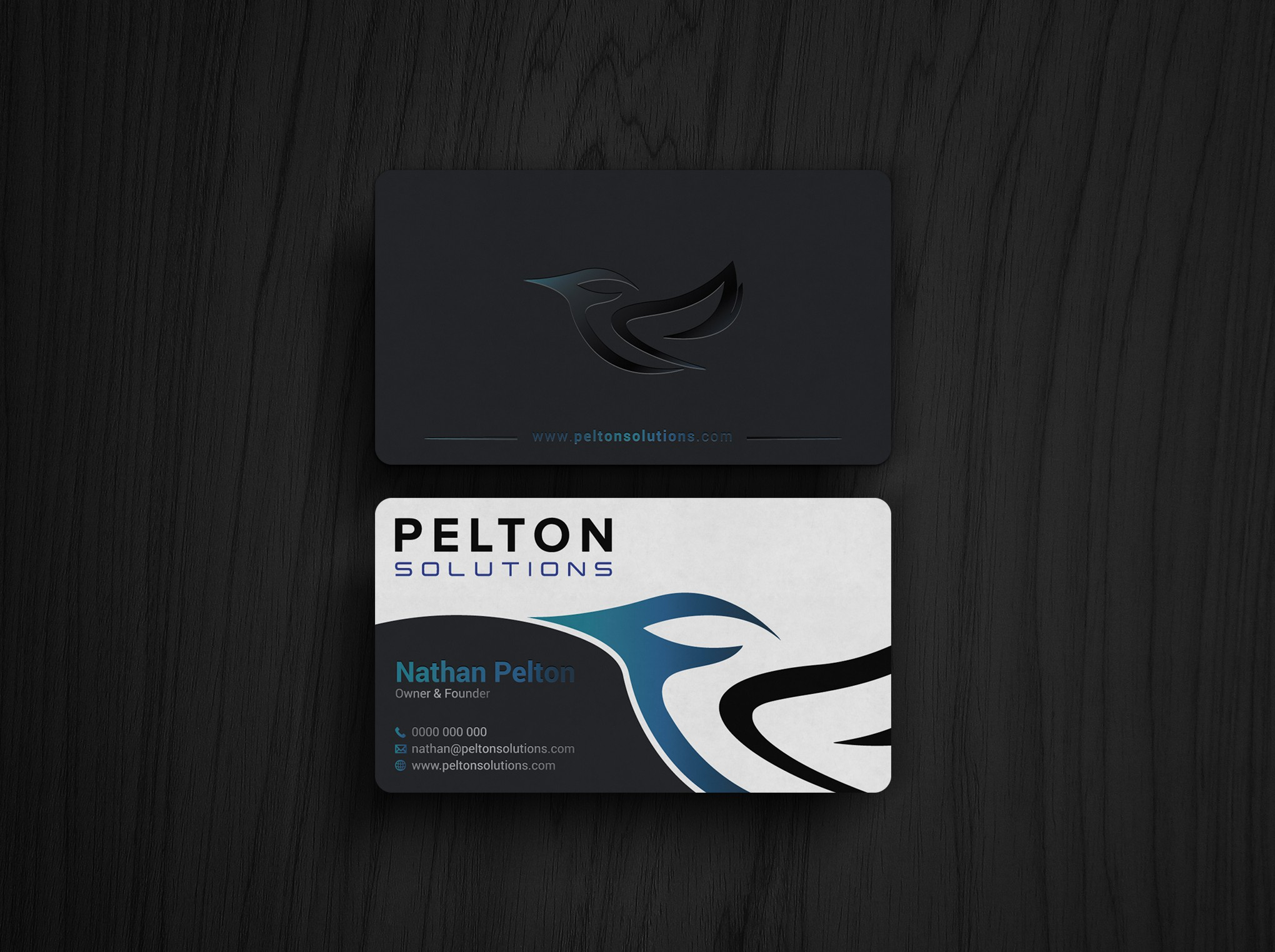 Business Card Design for New Web Application Company