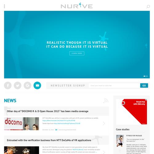 Webpage design for NURVE