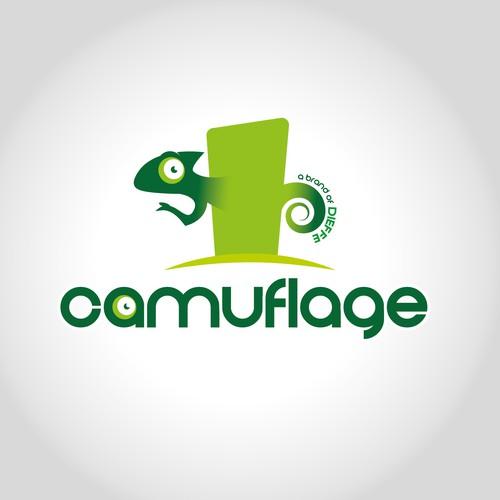 Camuflage logo design