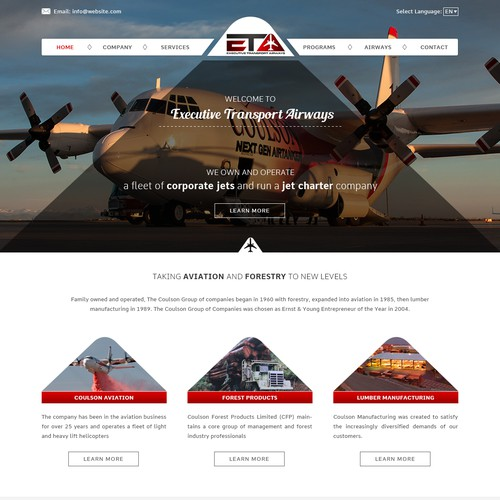 Designed Creative Website For Aviation Industry