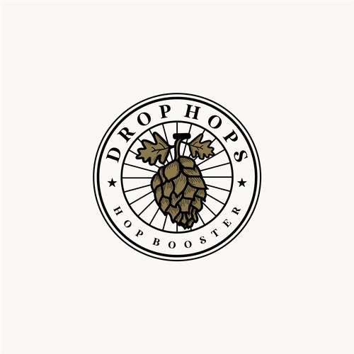 bold logo concept for drop hops