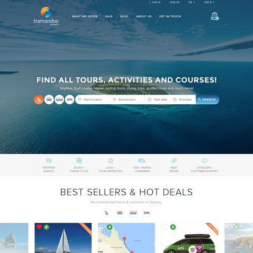 Travel agency's website design