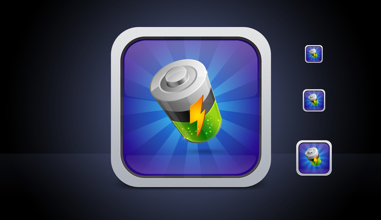 Cool iOS icon for Battery App