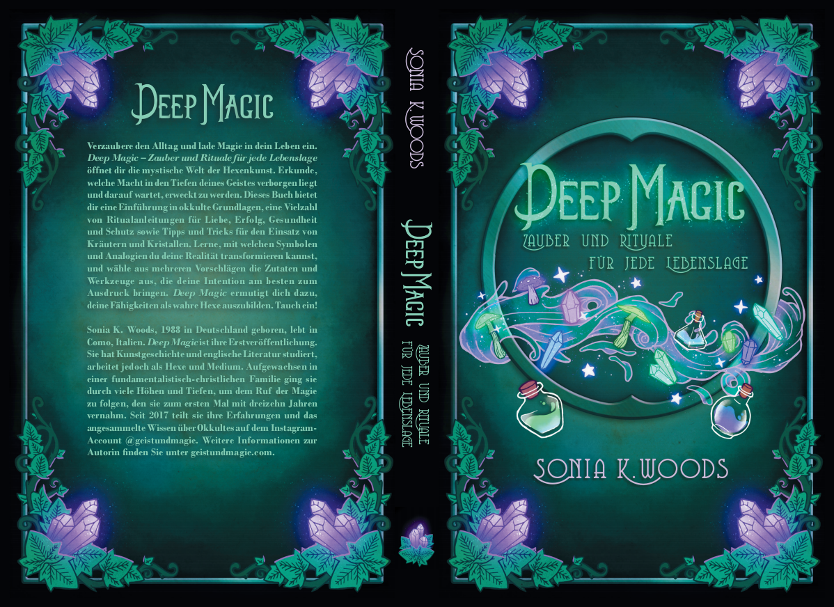 Cover and interior design for witchcraft spell book