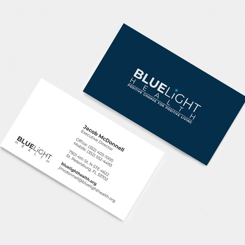 Business Card Design For BlueHealth