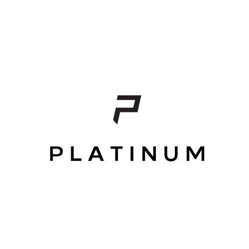 Simple and clean geometric P letter for Platinum