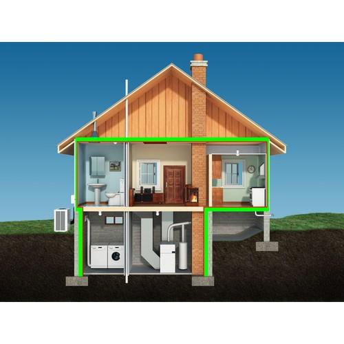 3D House cutaway