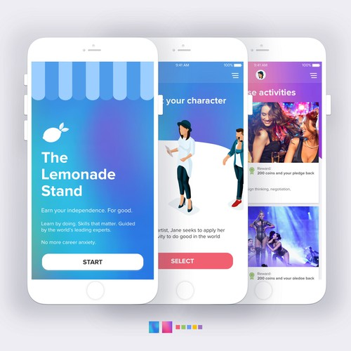 App design for The Lemonade Stand