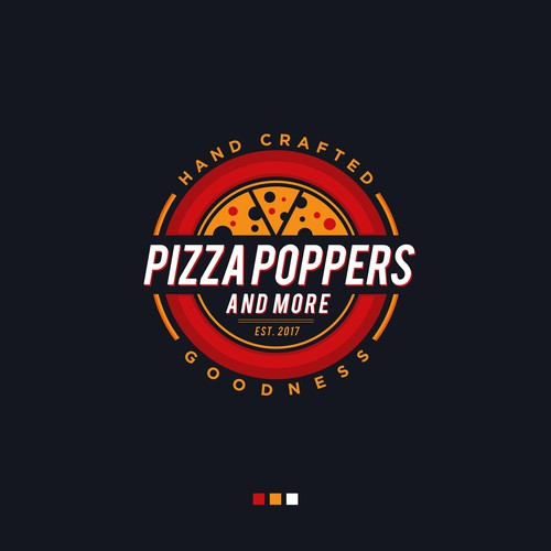 Pizza Poppers & More Logo Design
