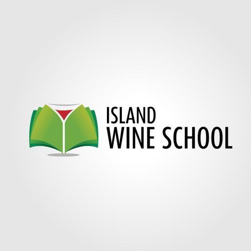 Logo Design for Island Wine School