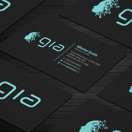 Business card design for Gia Media