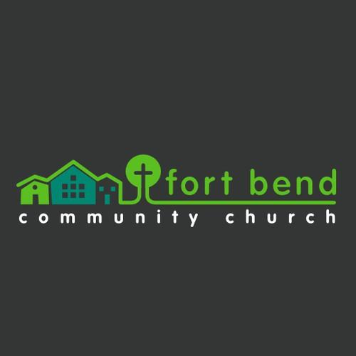 Simple, clean, and modern logo for a church