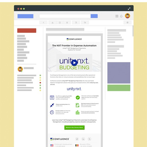 Email Design Proposal for Confluence