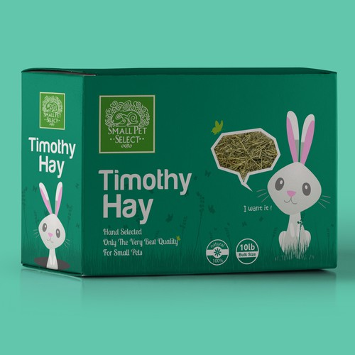 Box Packaging design for Timothy Hay.