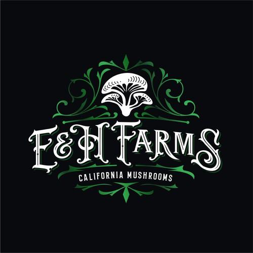mushroom farms logo design
