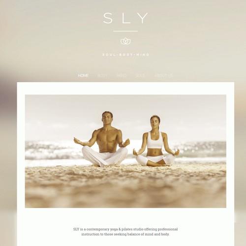 Create a web design in jimdo for yoga