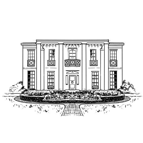 Symmetrical House Illustration