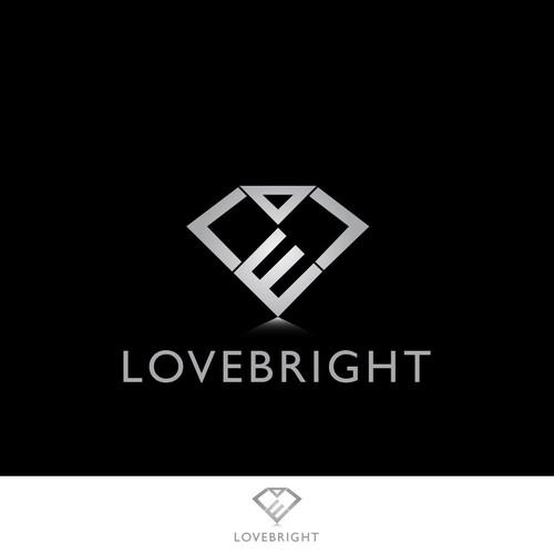 Diamond logo concept for Lovebright