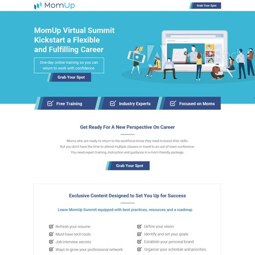 Landing page design for the next hottest gig-economy startup