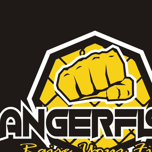 Bold clean and edgy design for mma fighter