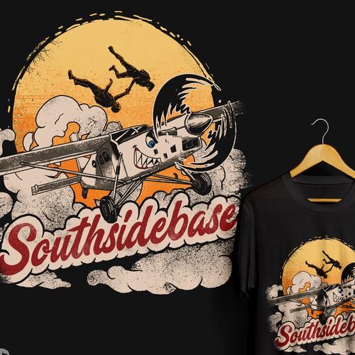 T-shirt design for Southsidebase Skydive