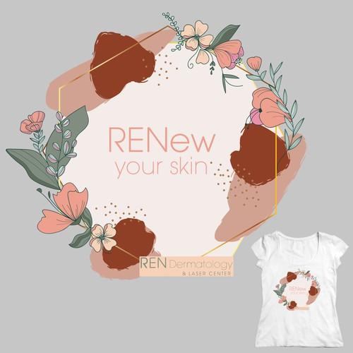 Tshirt design for a medical/dermatological spa