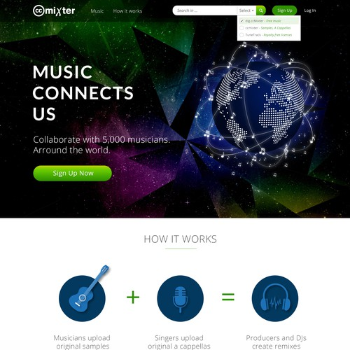 International Music Community Needs an Artistic, Clean, Cool Homepage