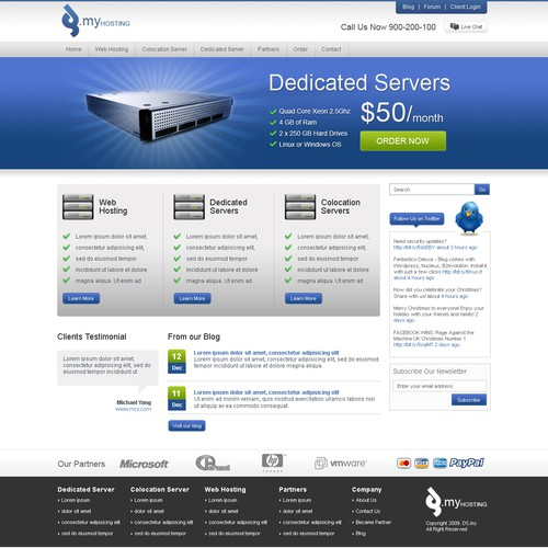 dedicated server and colocation services website