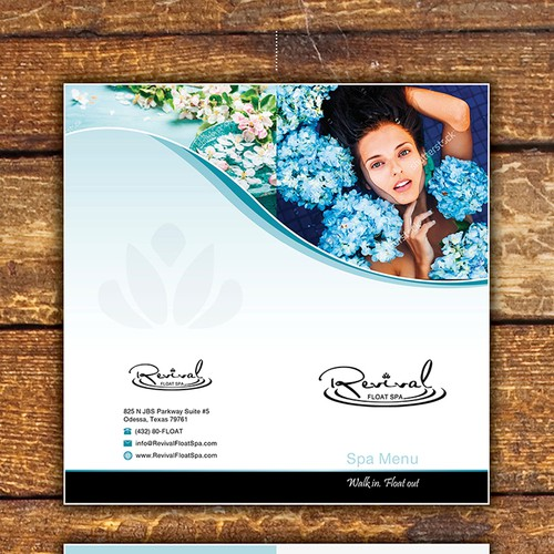 Fresh, multi-image service Menu for innovative Spa center