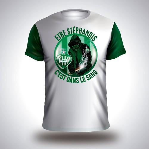 T-shirt for A.S. Saint-Etienne fans