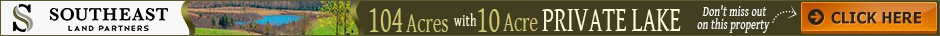 New banner ad for 104 acre property