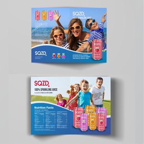 SQZD juice brochure
