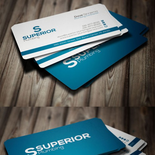Create a business card and website for plumbing business.