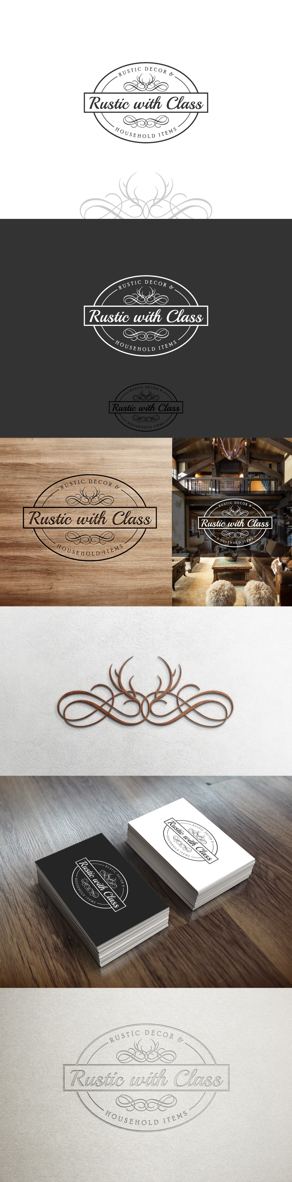 design a strong classy logo for Rustic with Class, future work possible