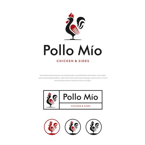 Logo proposal for Polo Mio restaurant.
