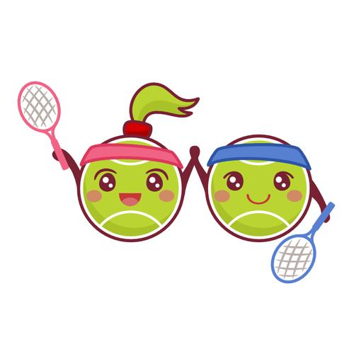 Cute tennis balls