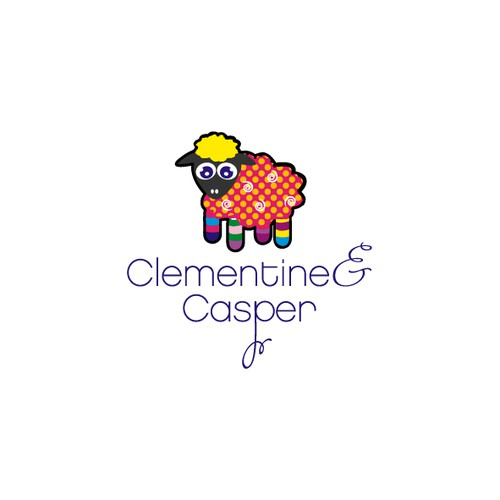 Bold logo concept for children clothing store