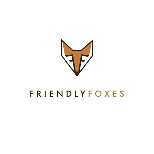Clean modern word mark fox logo