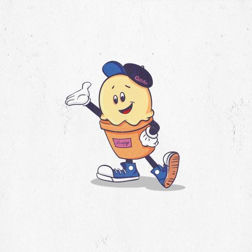 Vintage Ice Cone Mascot