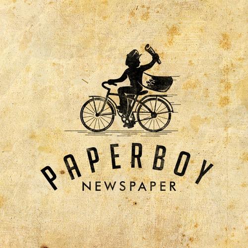 Vintage paperboy