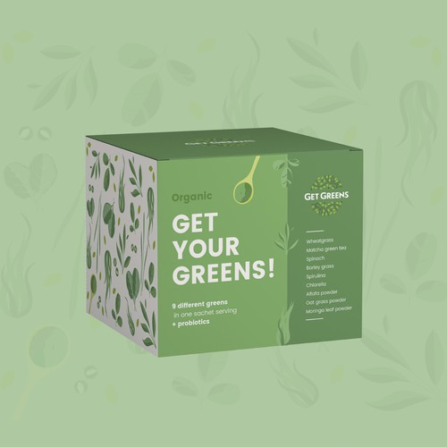 Packaging For a Health Greens Supplement