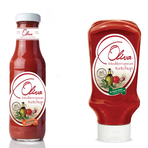 "New product label wanted for ""Oliva"" Mediterranean Ketchup!"