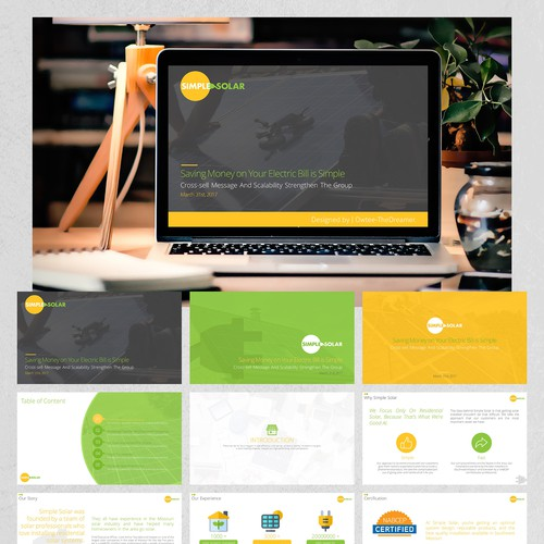 """PowerPoint Design for the """"Simple Solar"""" Project."""
